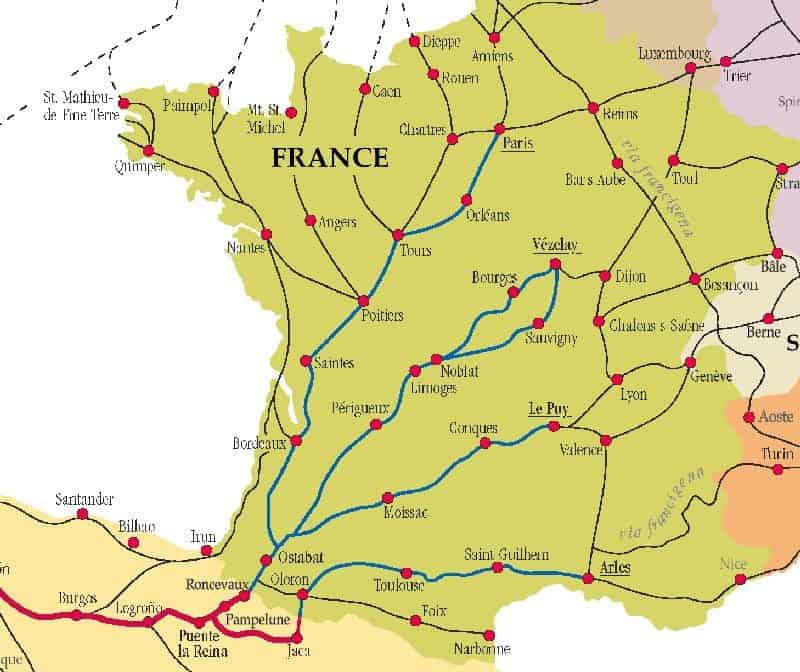 Camino Routes in France