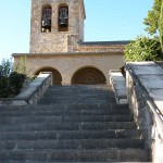 Cizur Minor 15 church 02 front with stairs
