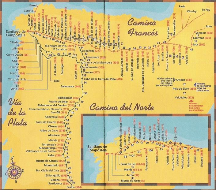 large camino map