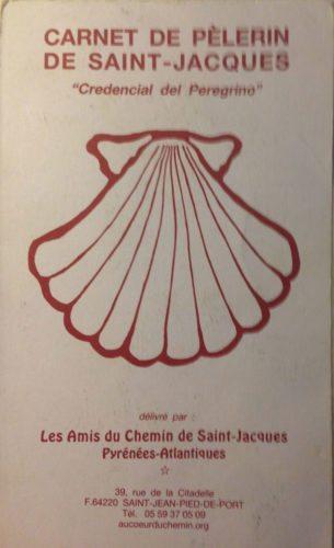 My First Camino Frances pilgrims passport