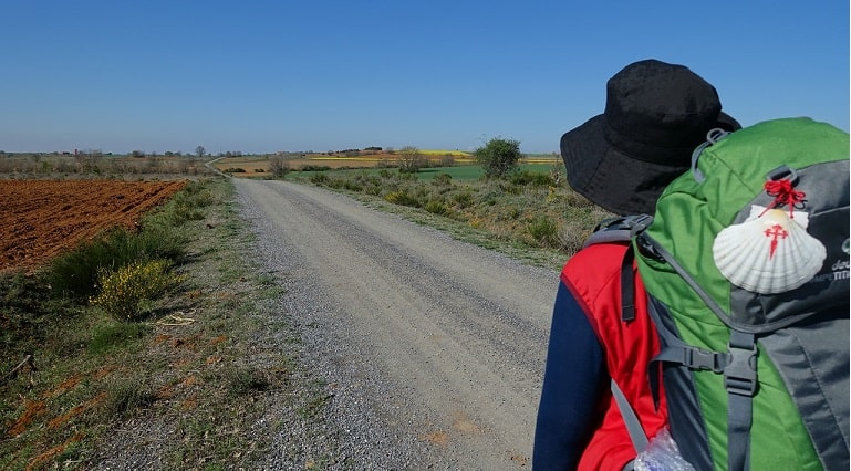 Woman walking the Camino