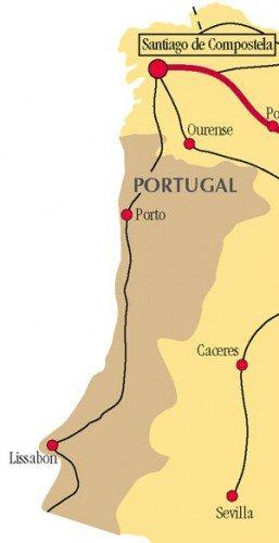 Camino Portuguse map