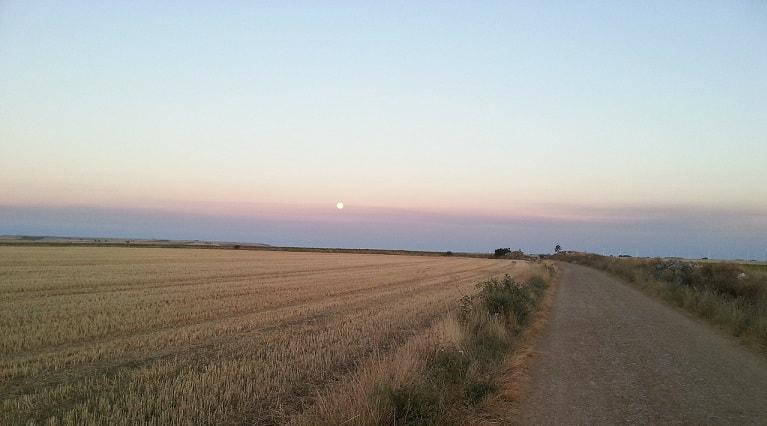 Sunset on el Camino