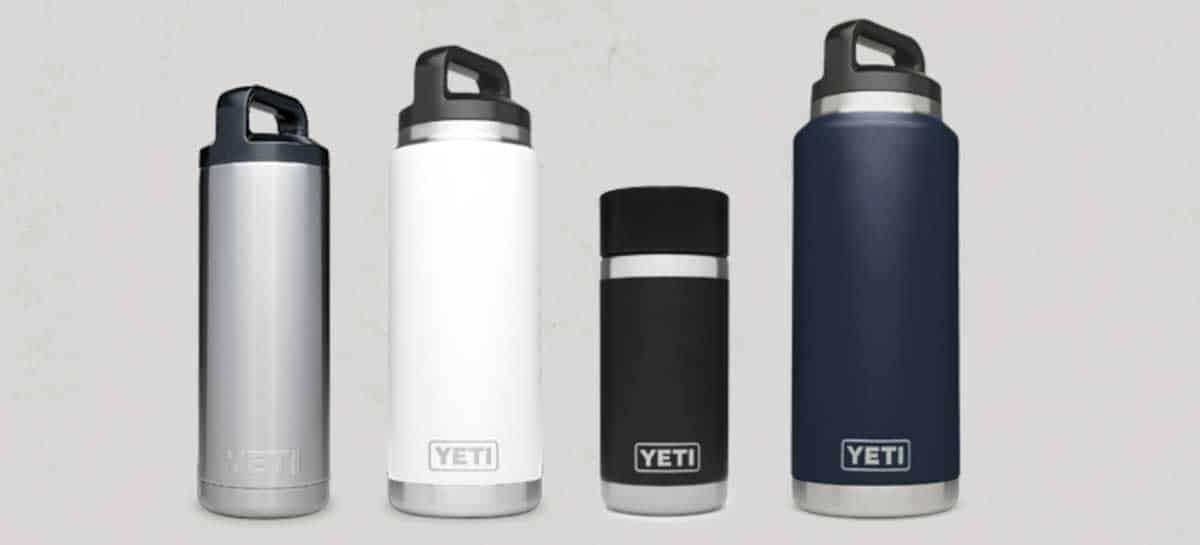 YETI water bottles