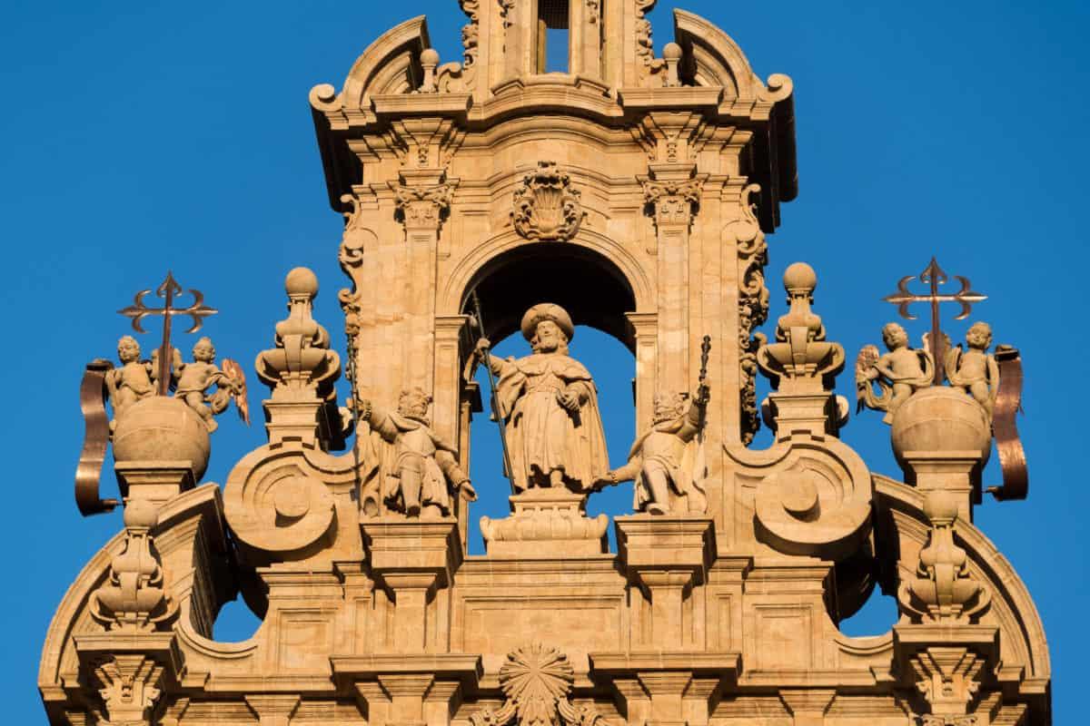 Statue of Santiago Cathedral of Santiago de Compostela