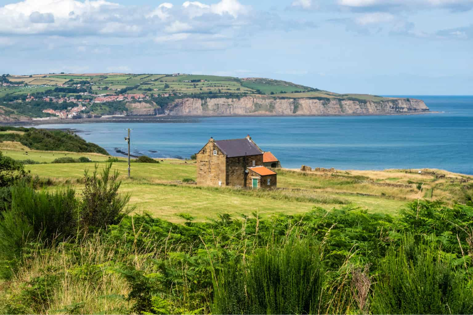 Cleveland Way between Cloughton and Robin Hoods Bay in North Yorkshire