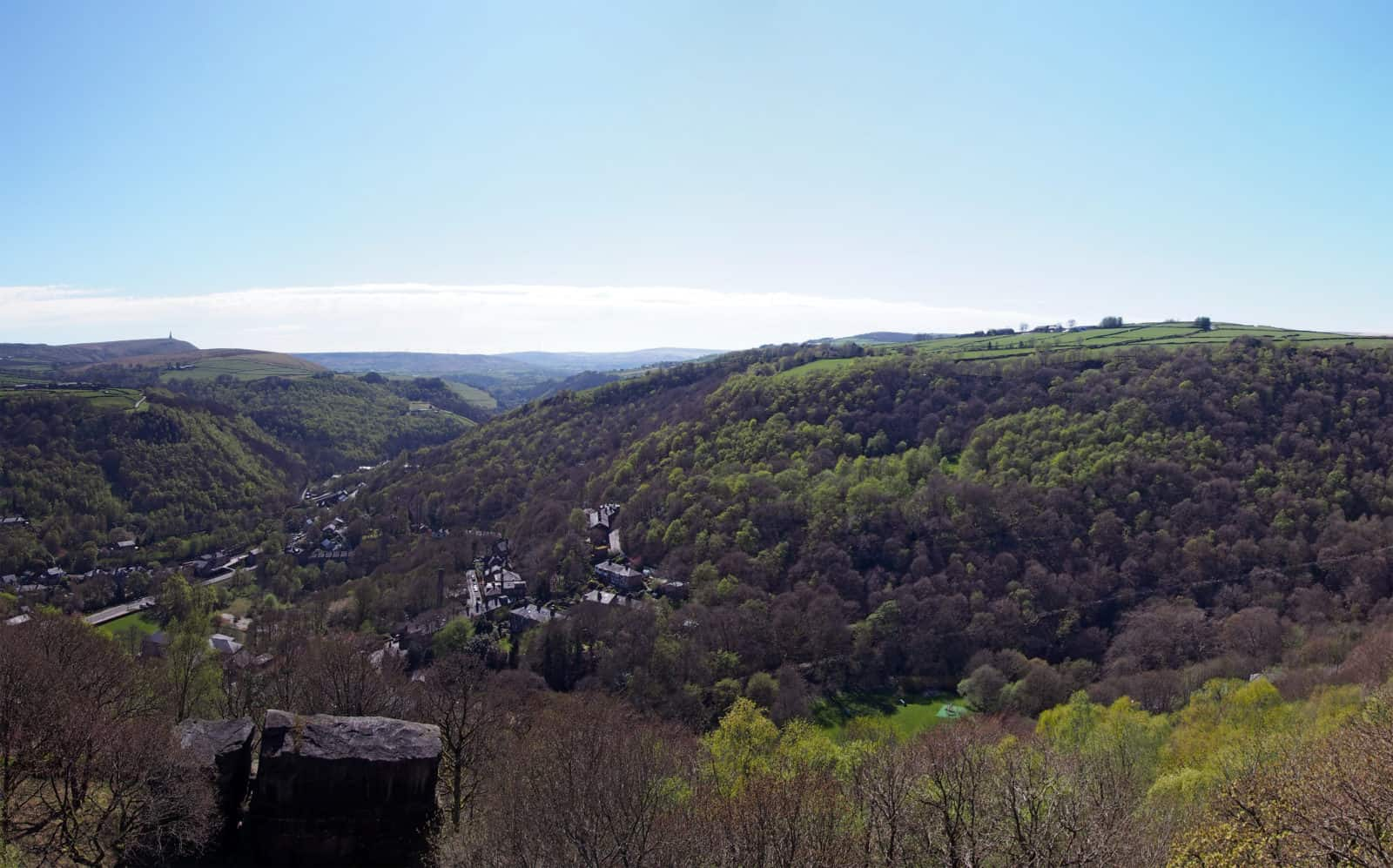Colden valley and the town of Hebden Bridge