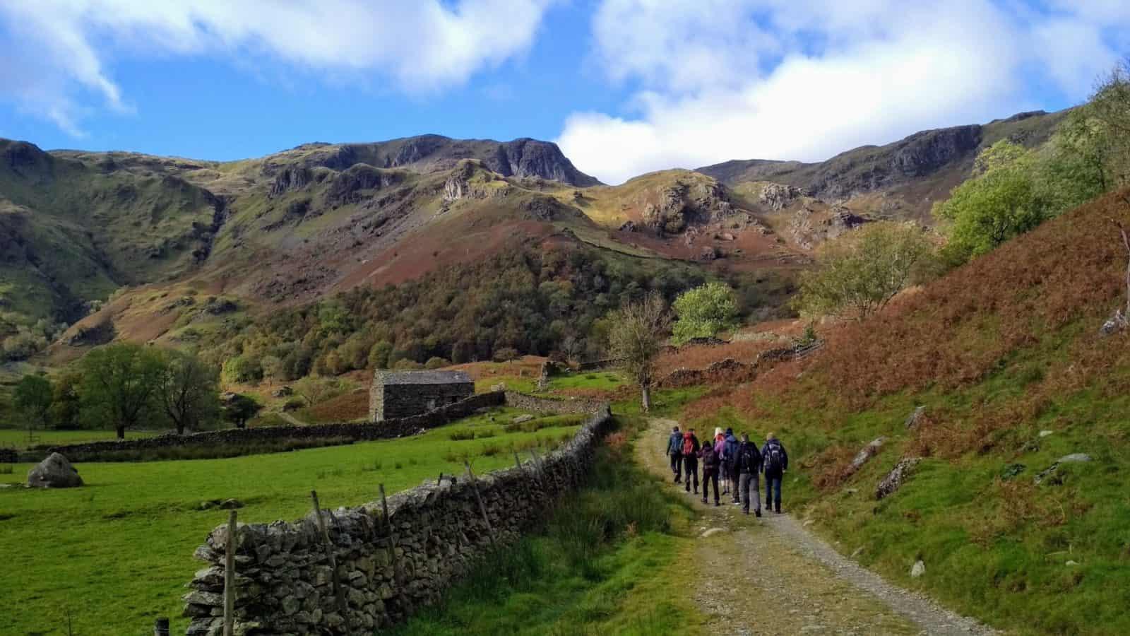 Hikers in Lake District, Keswick, UK