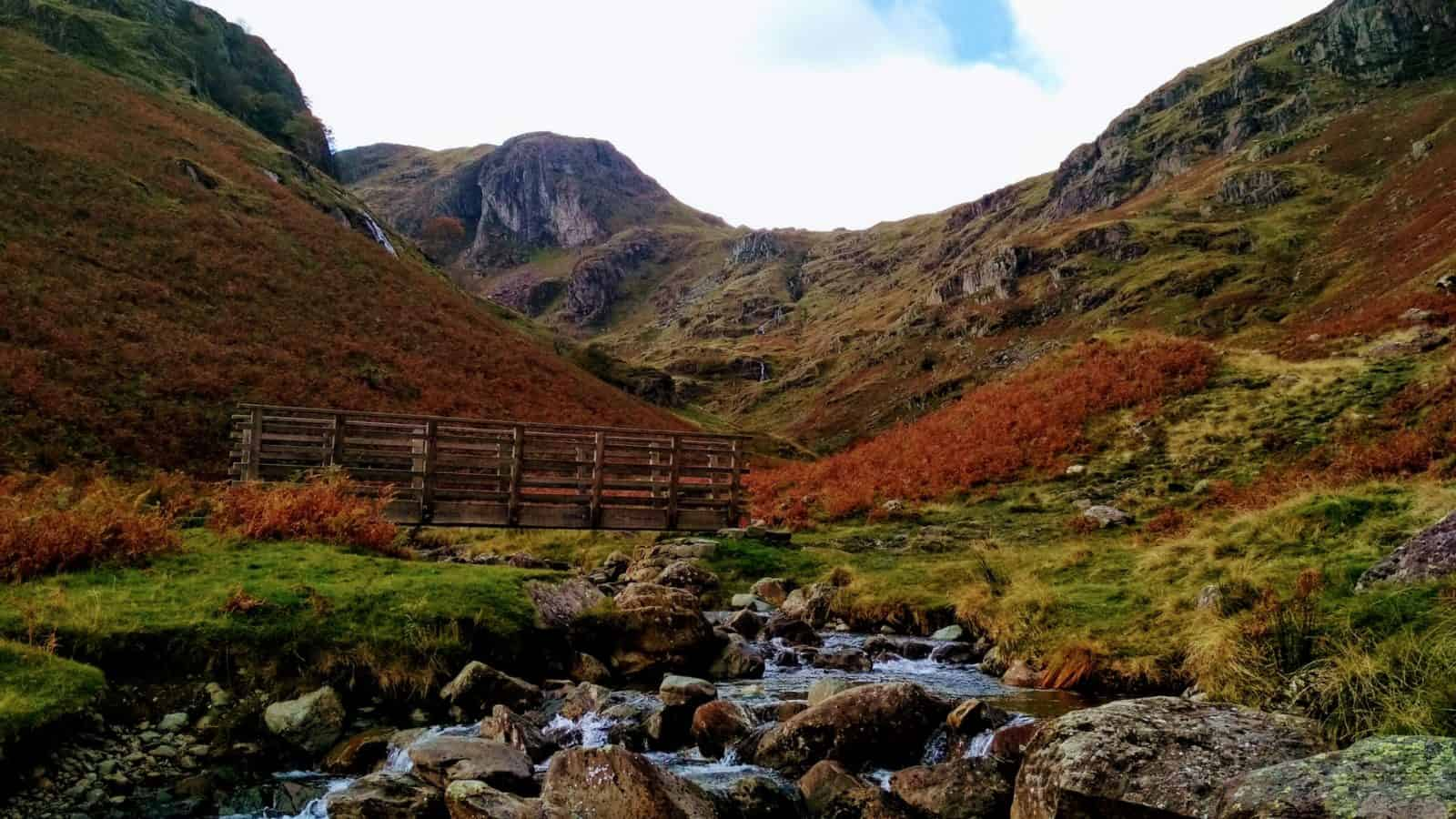 Lake District in the fall