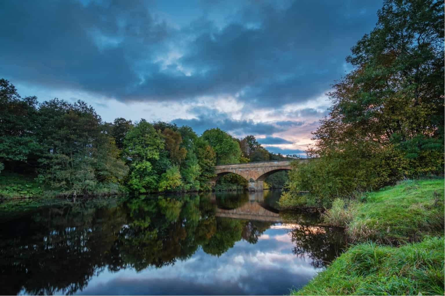 River North Tyne under Bellingham Bridge