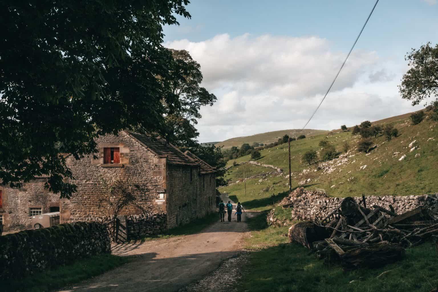 Walkers in Derbyshire