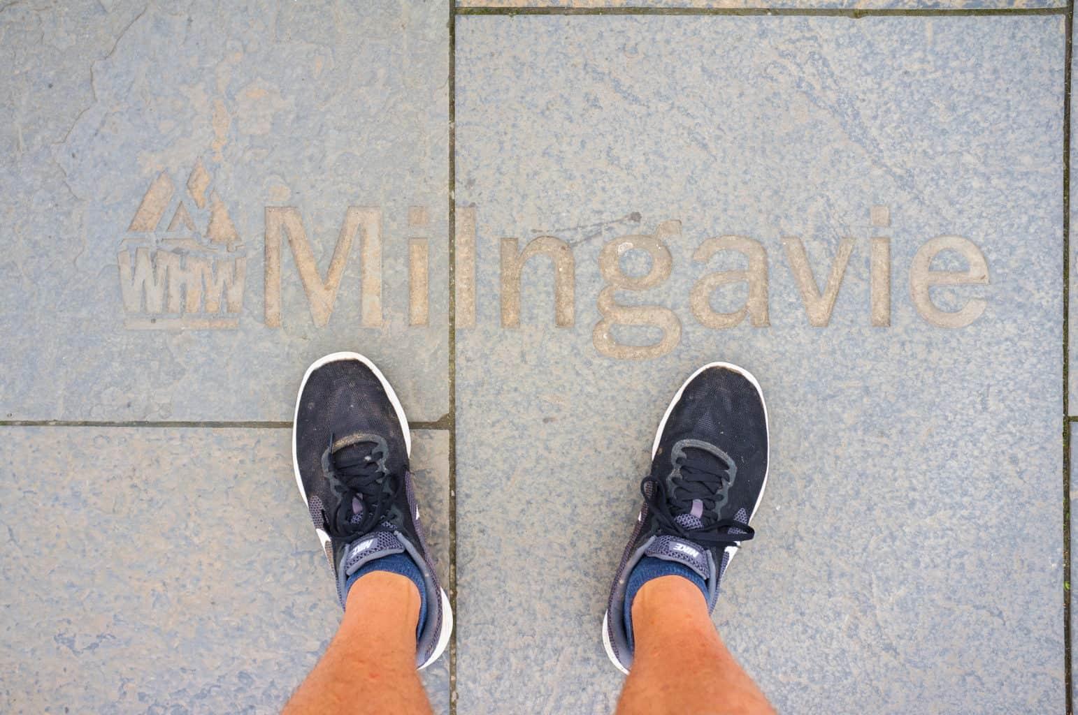 West Highland Way Milngavie pavement sign