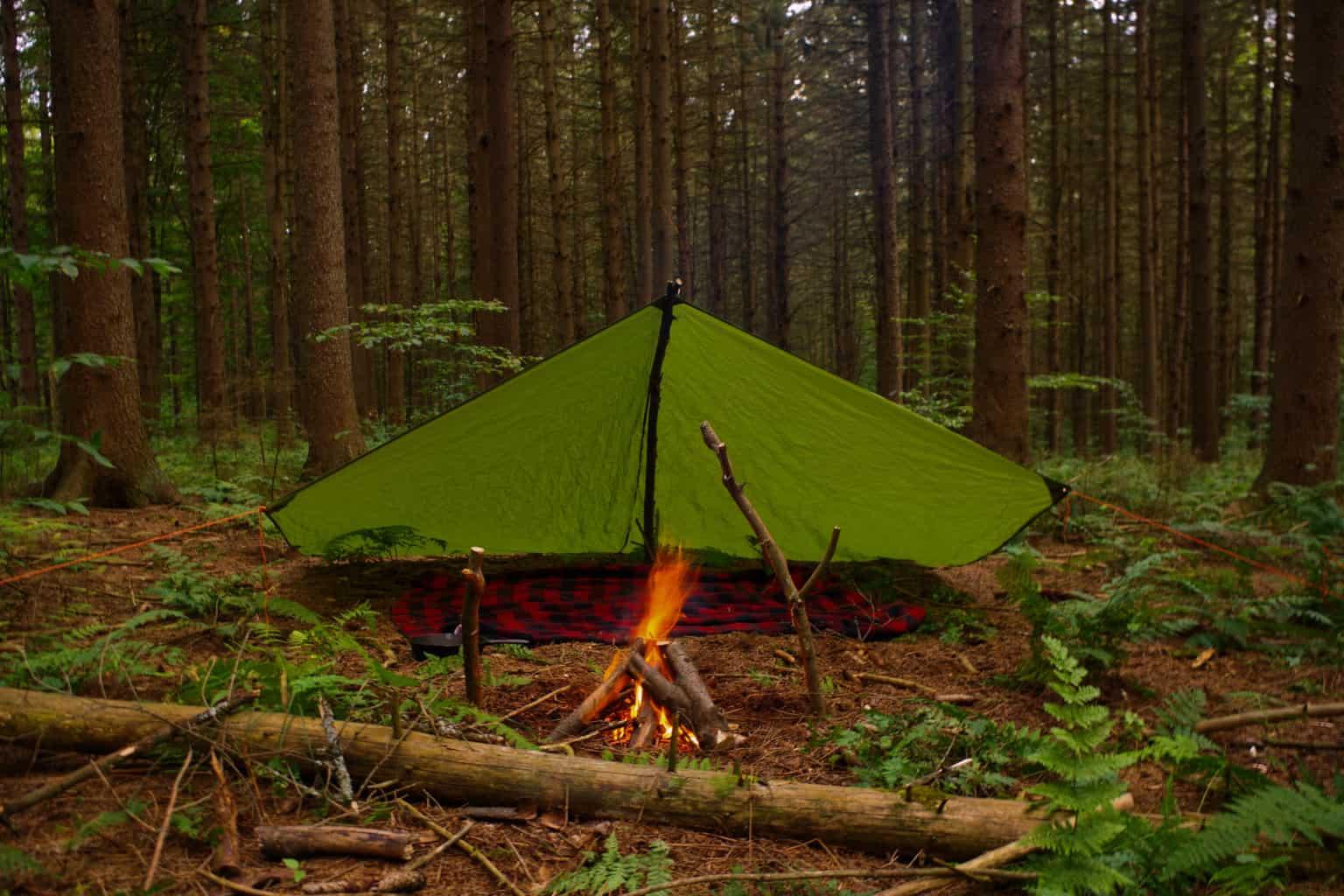 a-frame tarp tent