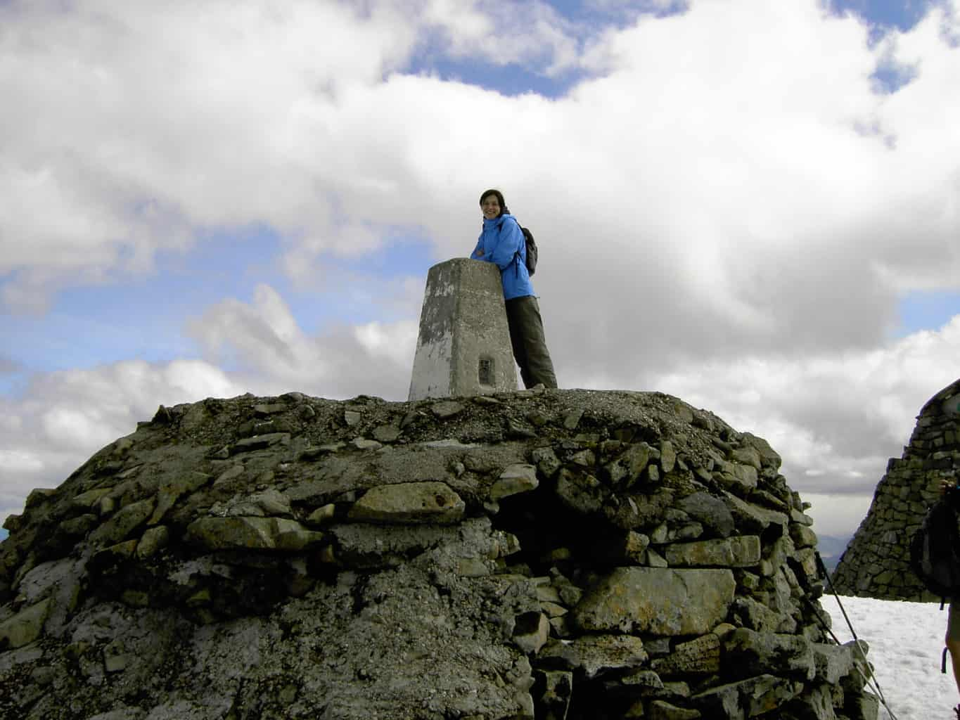 Anna at the top of Ben Nevis