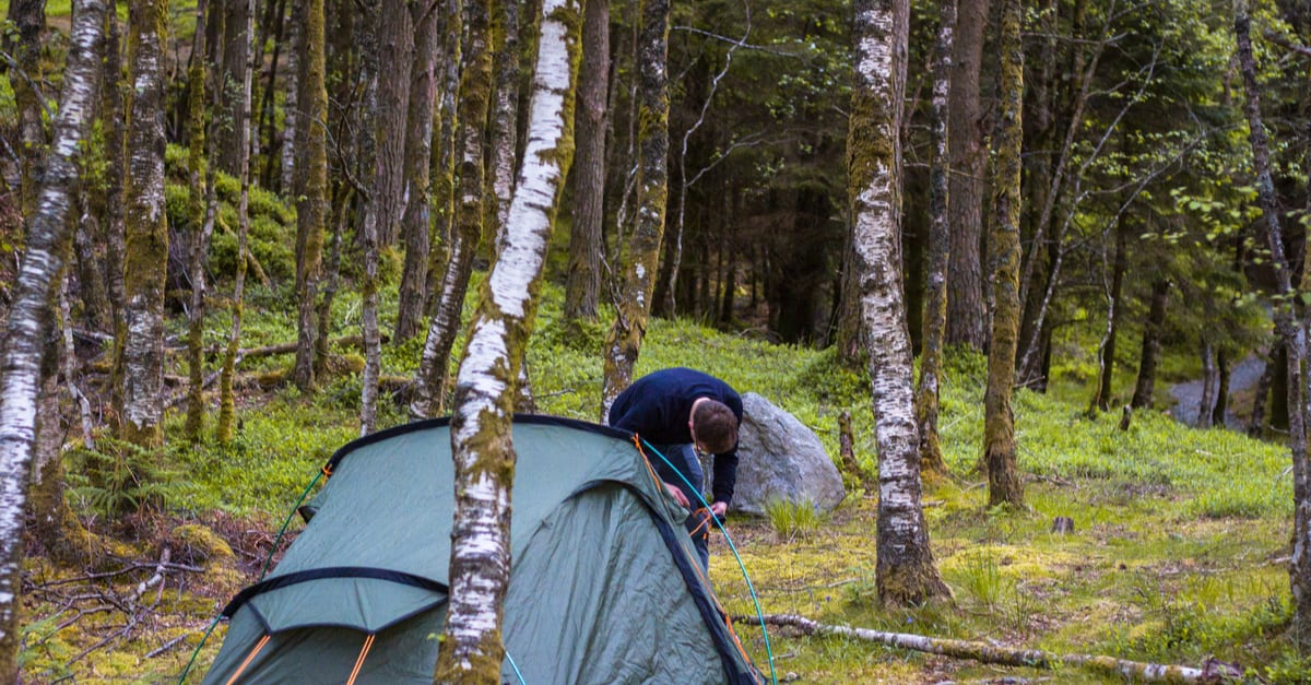 camping on the west highland way