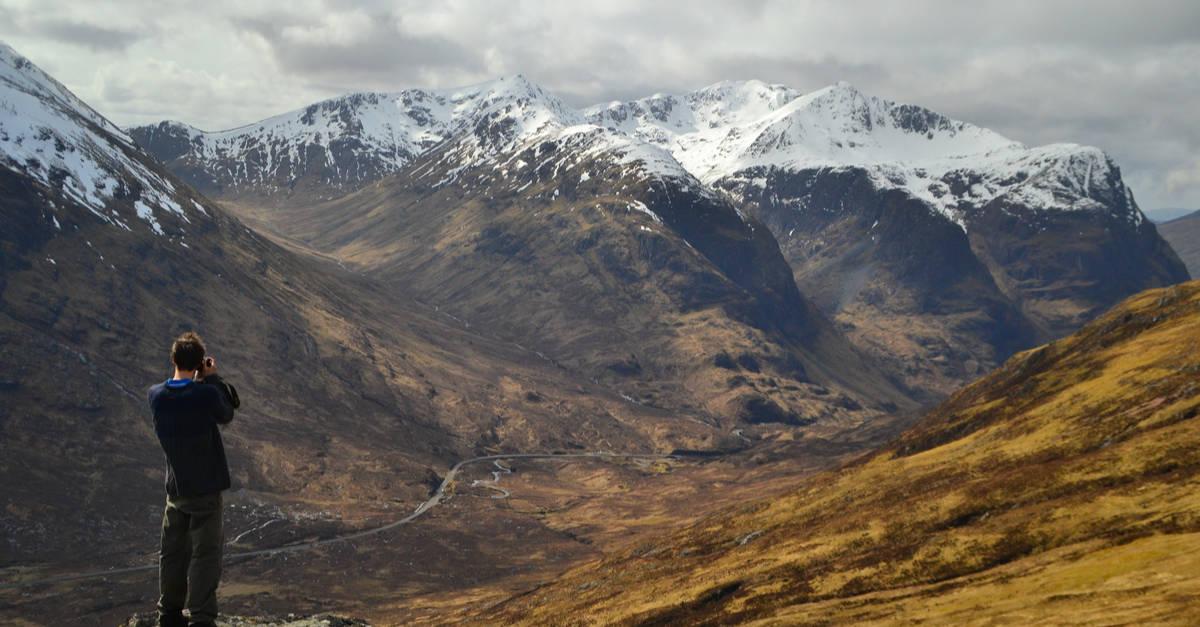 Mountain views on the WHW