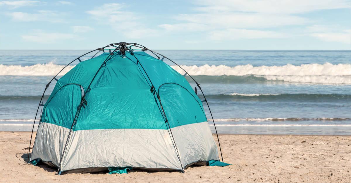 odd shaped tent