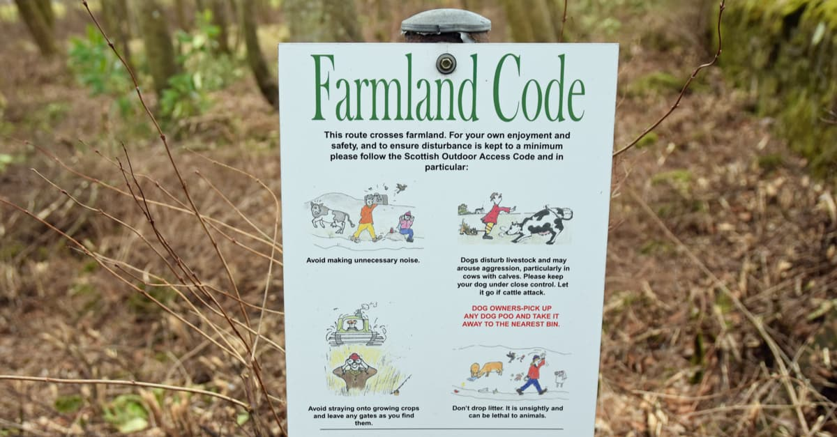 Sign warning dog owners