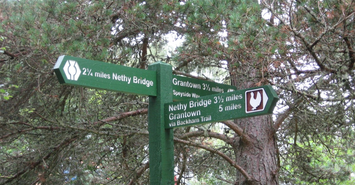 Signs along the Speyside Way