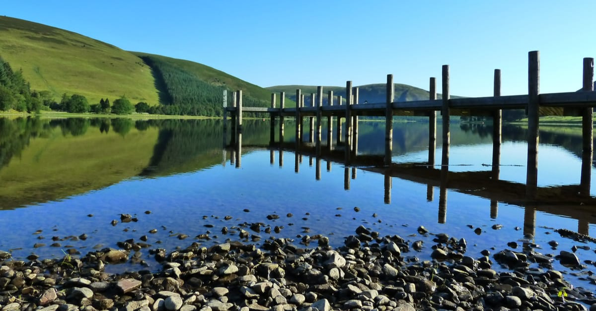 St Mary's Loch on the Southern Upland Way