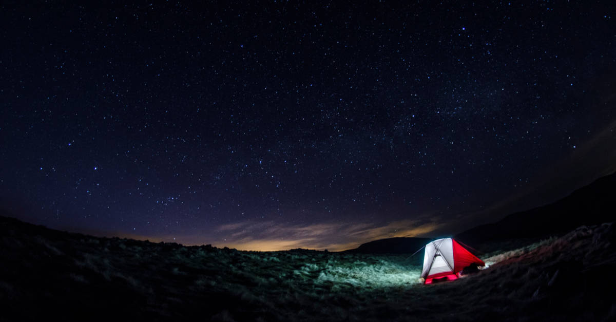 Wild camping in Galloway Forest park