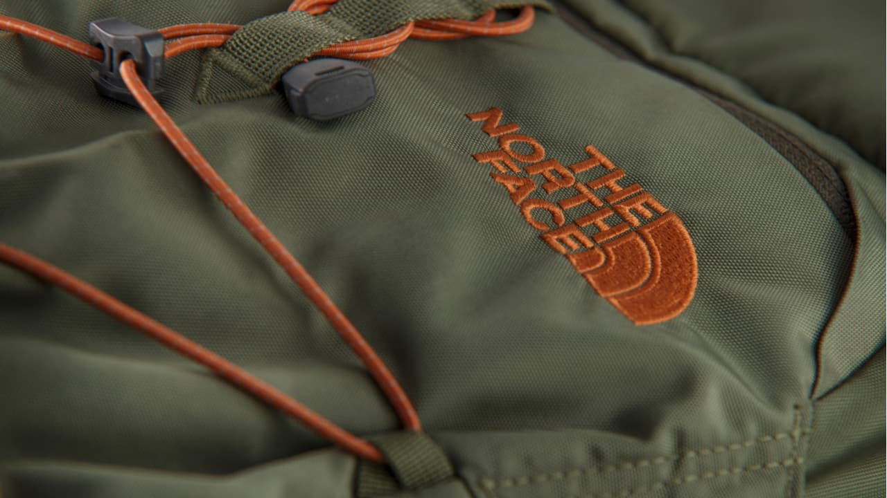 Logo on a North Face Backpack