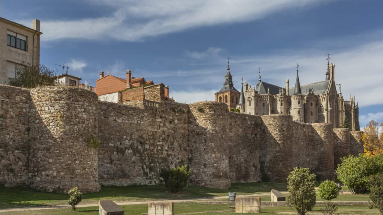 Roman wall in Astorga